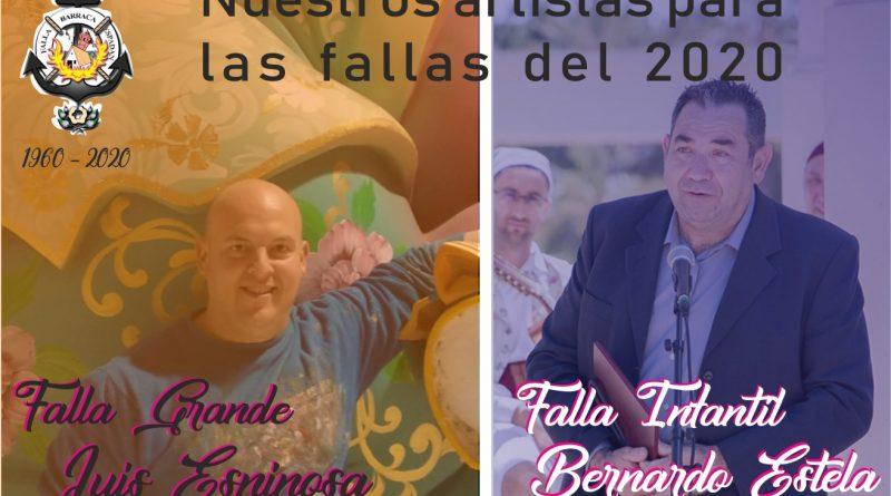 Bernardo Estela y Luis Espinosa plantarán las fallas del 2020